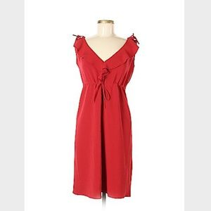 MaxMara Solid Red Casual Dress Size 44 (IT)